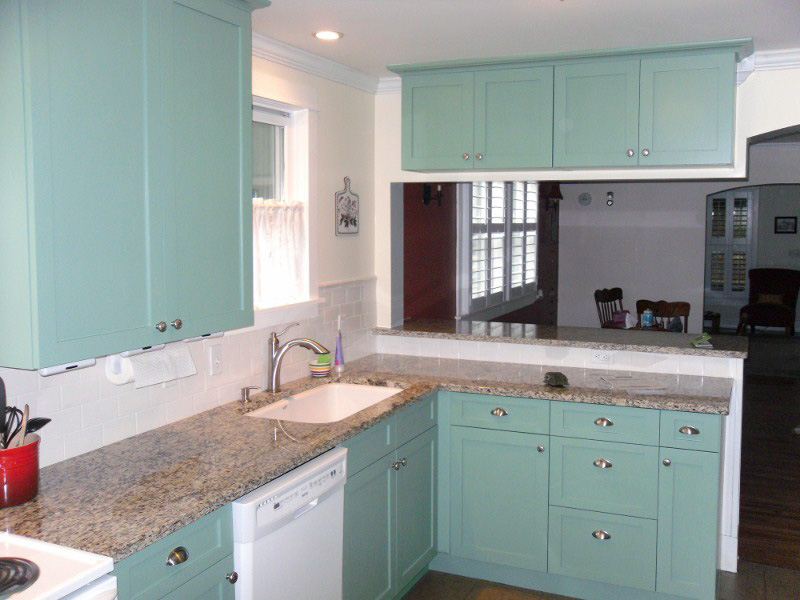Soild White Kitchen Cabinets · Teal Kitchen Cabinets
