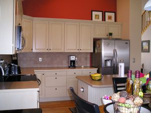 Loveland house with newly refinished cabinets
